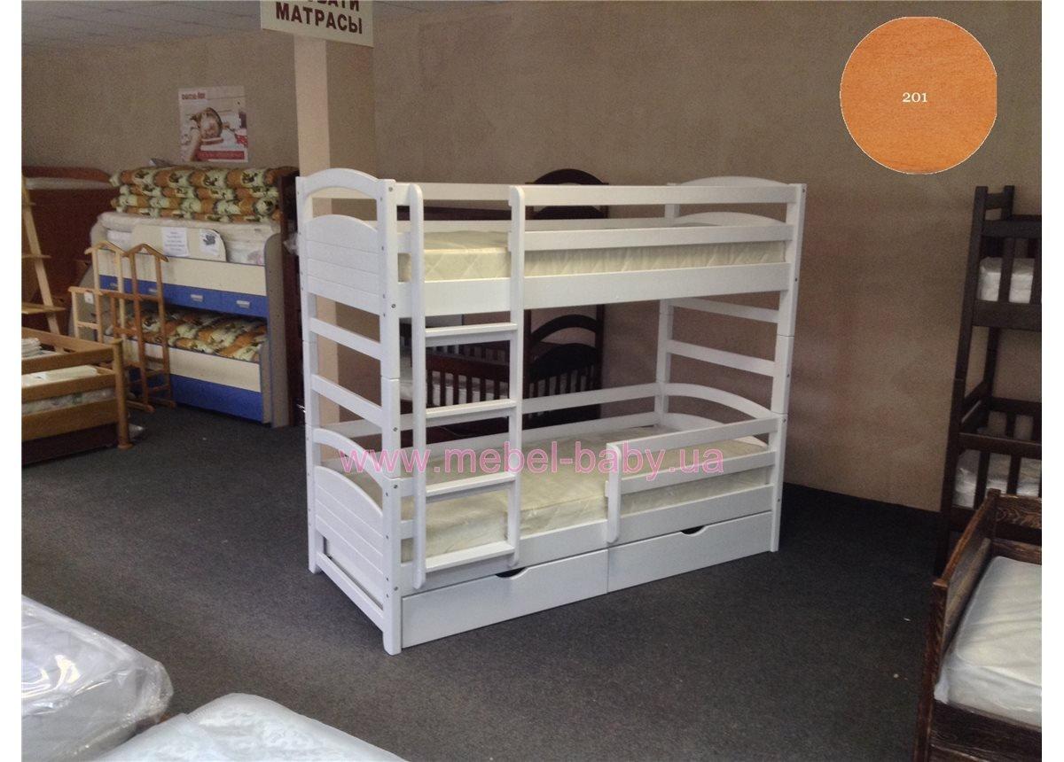 Двухъярусная кровать Мила 80х200 Квико 80x200 Дерево