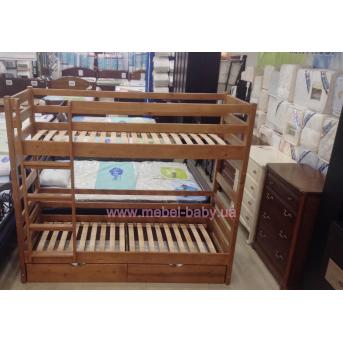 Двухъярусная кровать Томас 80х200 Квико 80x200 Дерево