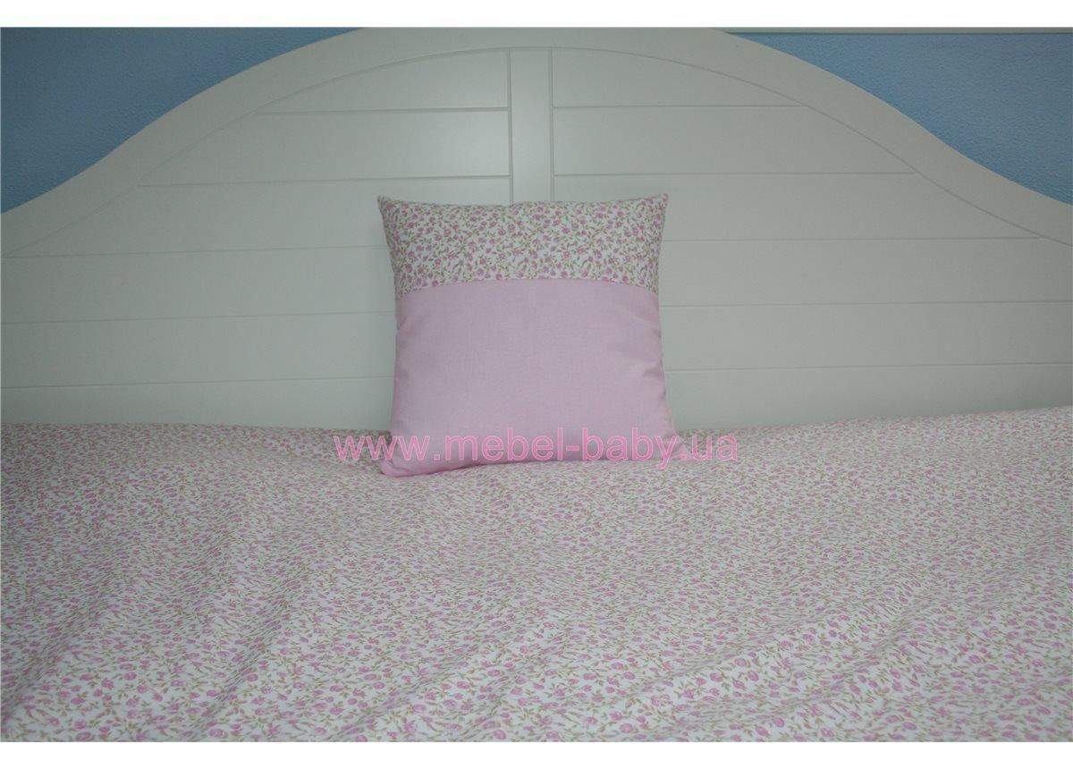 Подушка 35х35 розовая