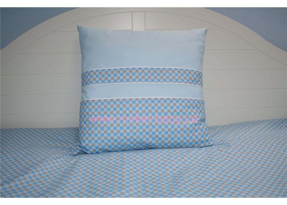 Подушка 50х50 голубая