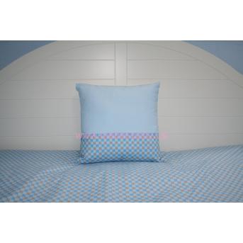 Подушка 35х35 голубая