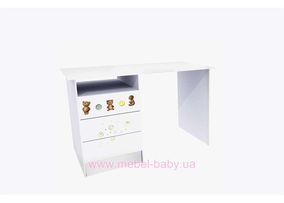 Стол с тремя ящиками Мишка/мед