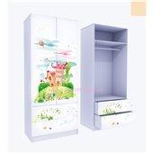 Шкаф с двумя ящиками Сказка 211x80x50