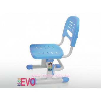Стульчик Evo-kids EVO-301 BL (арт.EVO-301 BL) белый металл / сиденье,спинка,накладки-голубые