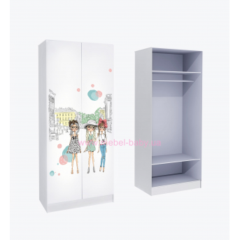 Шкаф для одежды MebelKon Гламур 211x80x50