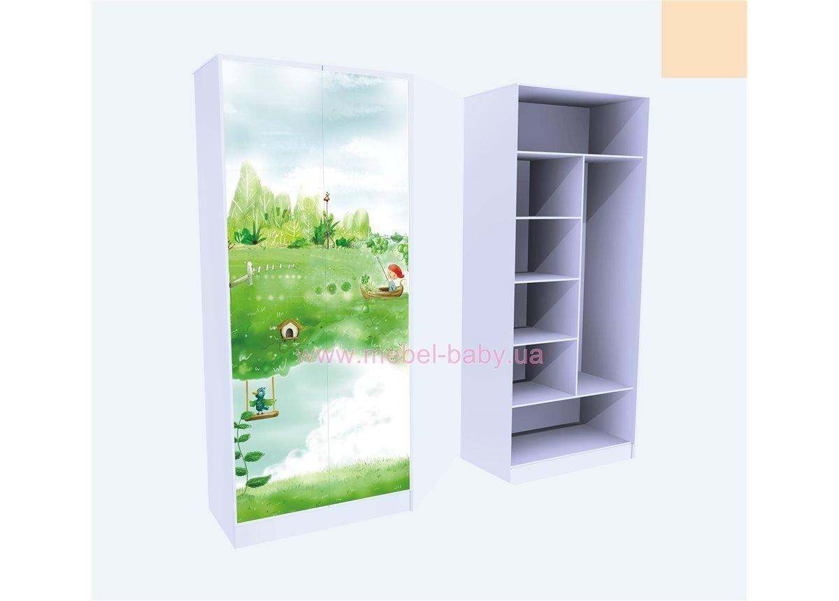 Шкаф Нежность Комбинированный 211x90x50