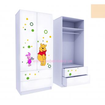 Шкаф с двумя ящиками верх для одежды Винни 2 211x100x50