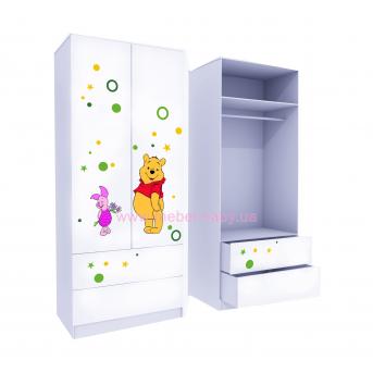Шкаф с двумя ящиками верх для одежды MebelKon Винни 2 211x80x50