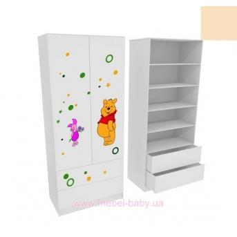 Шкаф с двумя ящиками( верх для белья) MebelKon Винни 2 211x100x50