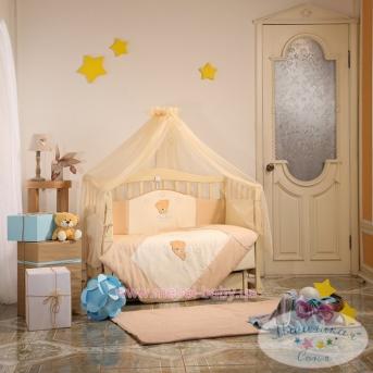 Набор постельного белья Tiny Love (7 предметов) шоколадный