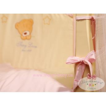 Набор постельного белья Tiny Love (6 предметов) розовый