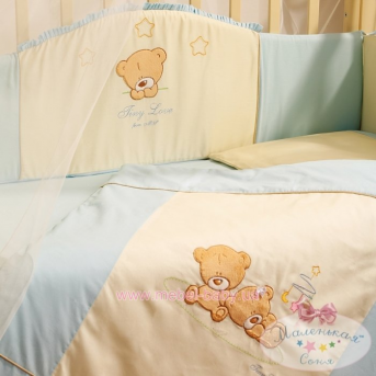 Набор постельного белья Tiny Love (6 предметов) голубой
