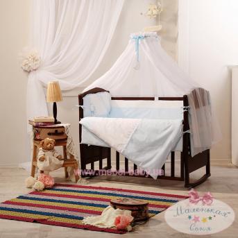Набор постельного белья Дарлинг(7 предметов) голубой