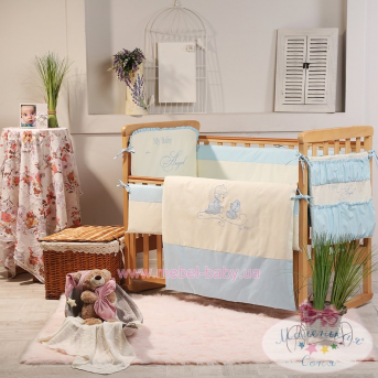 Набор постельного белья Ангел(6 предметов) голубой