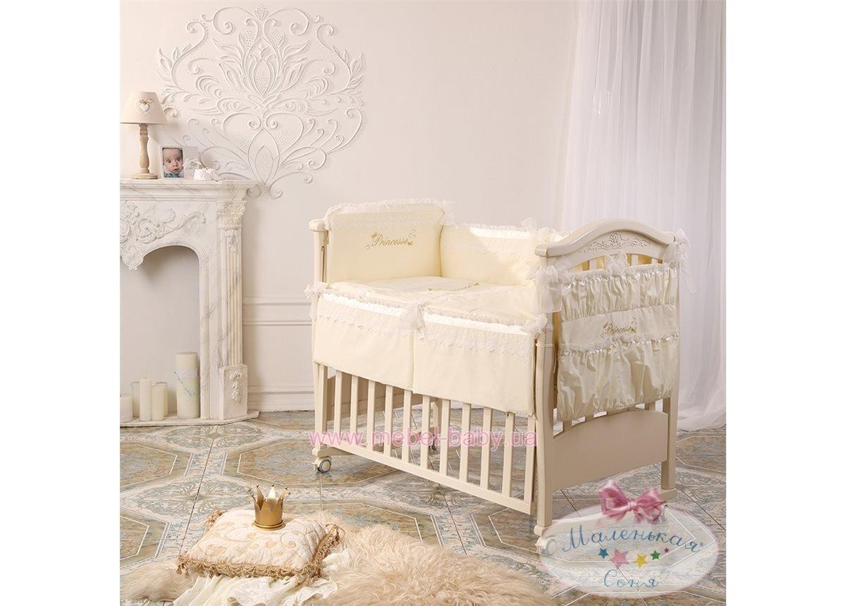 Набор постельного белья Принцесса(6 предметов) ванильный сатин