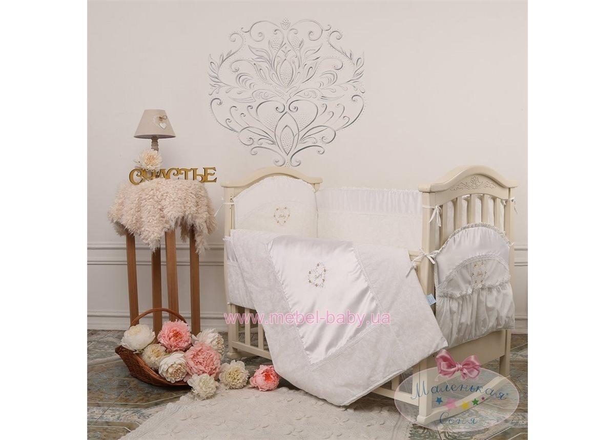 """Набор постельного белья """"Версаль"""" Swarovski(6 предметов) белый"""