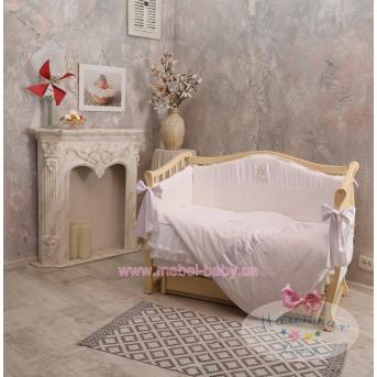 """Набор постельного белья """"Baby Chic"""" Swarovski(6 предметов) жемчужный"""