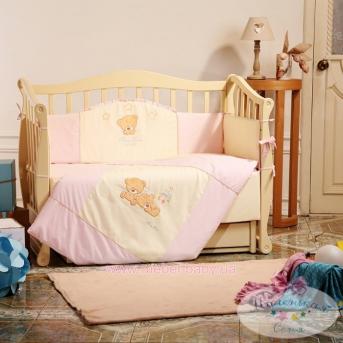 Спальный комплект постельного белья Tiny Love  розовый
