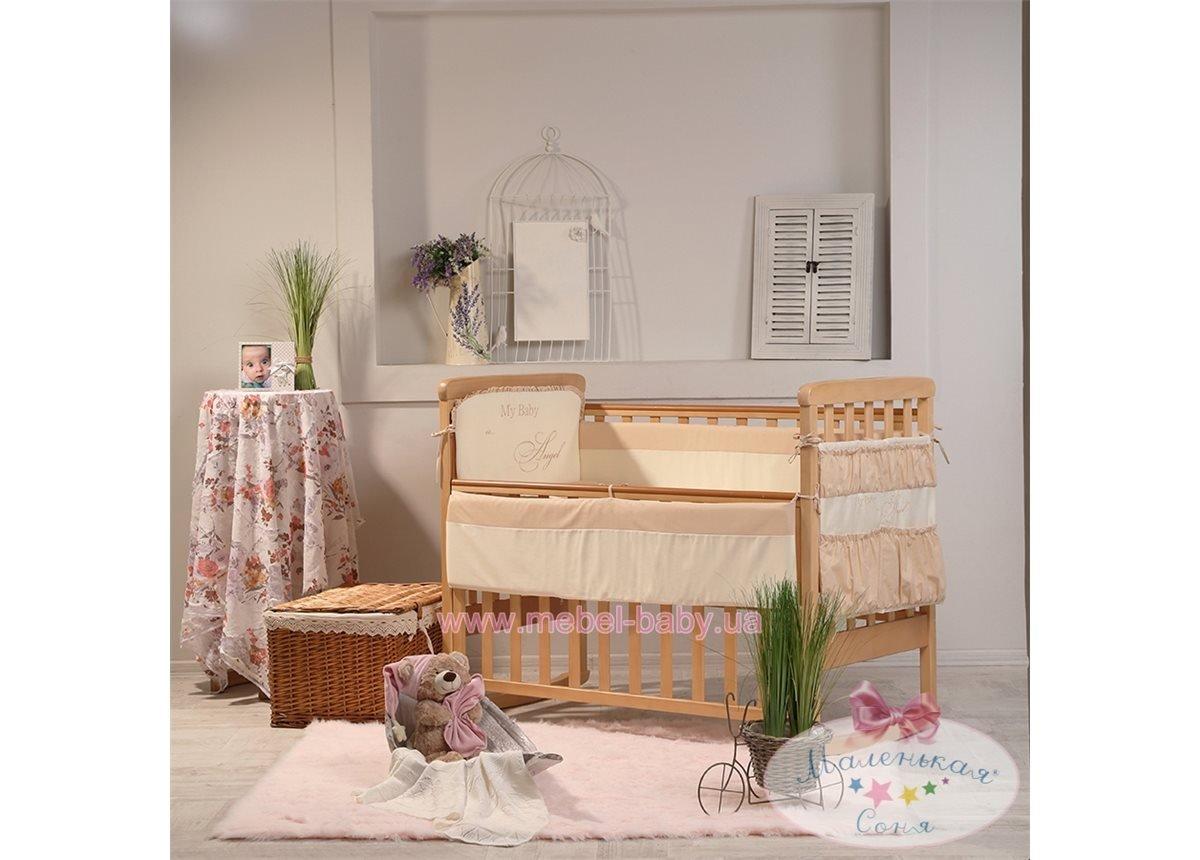 Спальный комплект постельного белья Ангел шоколадный