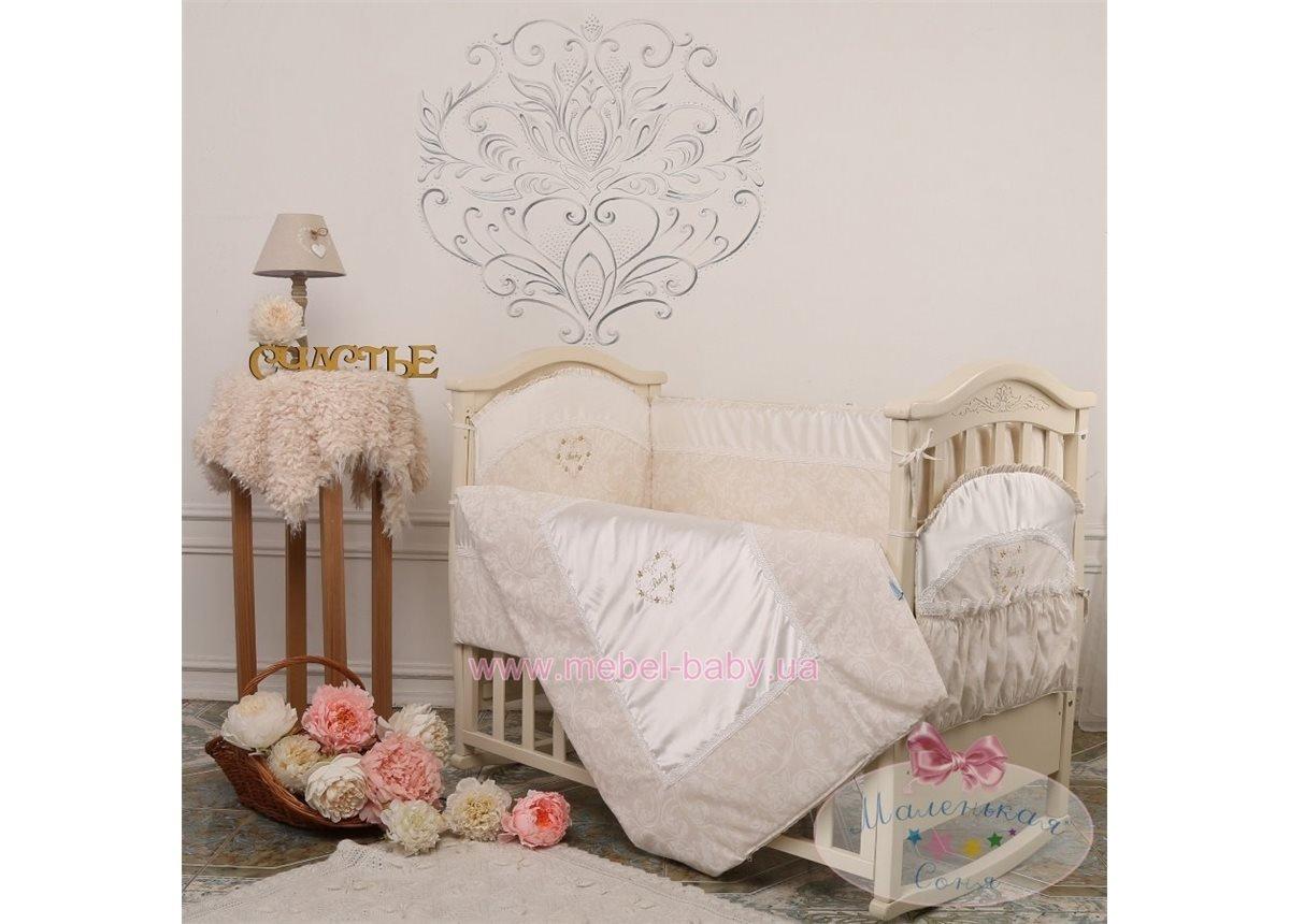 Спальный комплект постельного белья Версаль кофейный