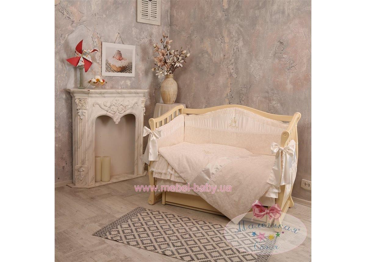 Спальный комплект постельного белья Baby Chic кофейный