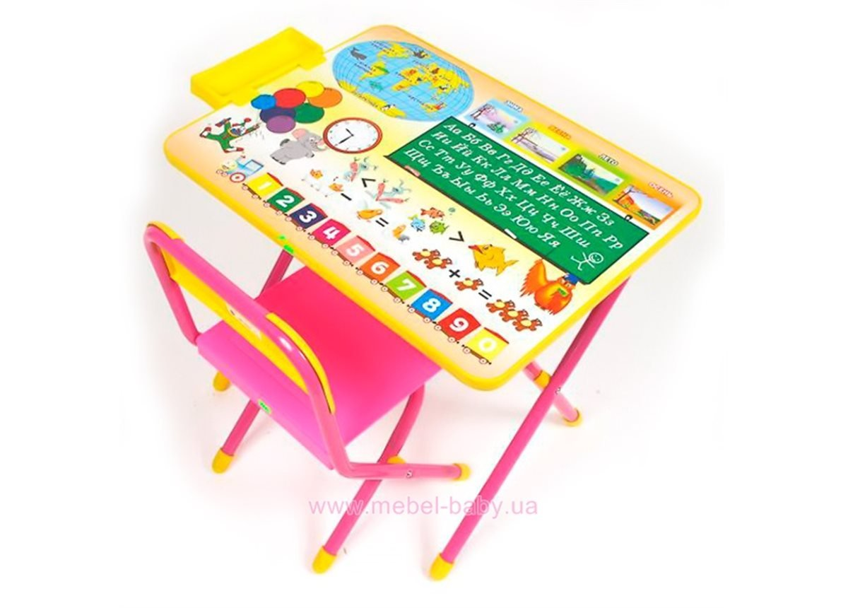 Набор детской мебели №1 Глобус - розовый
