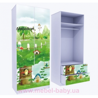 Шкаф с двумя ящиками верх для одежды Нежность 211x100x50