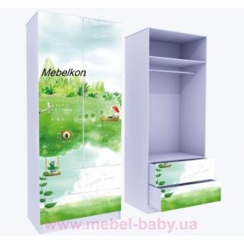 Шкаф с двумя ящиками верх для одежды Нежность 211x80x50
