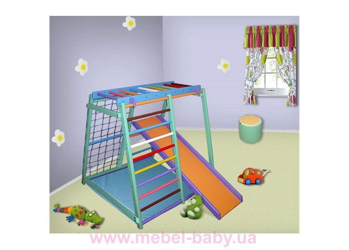 Детский комплекс МАЛЫШ Цветной Буратино Сосна