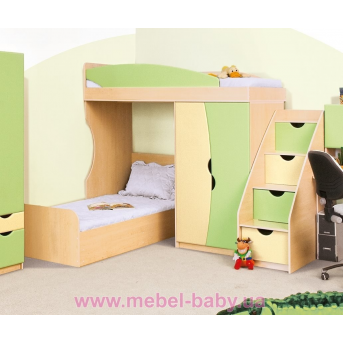 Двухъярусная кровать Саванна Свит Меблив 80x190 Бежевый ЛДСП