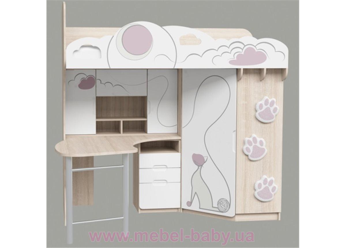 Кровать-чердак Cats