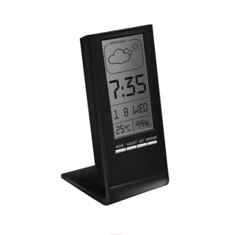 Цифровой гигрометр-термометр с часами Стеклоприбор Т-14