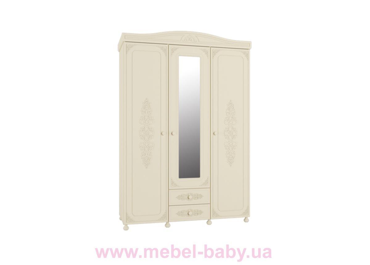 Шкаф 3-х дверный без зеркала Ассоль Premium АС-27 Санти Мебель