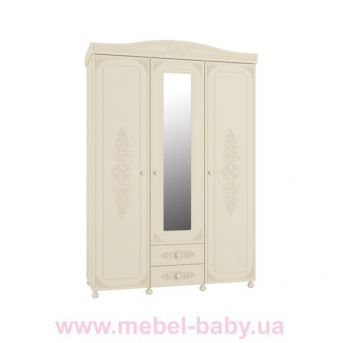 Шкаф 3-х дверный с зеркалом Ассоль Premium АС-27 Санти Мебель