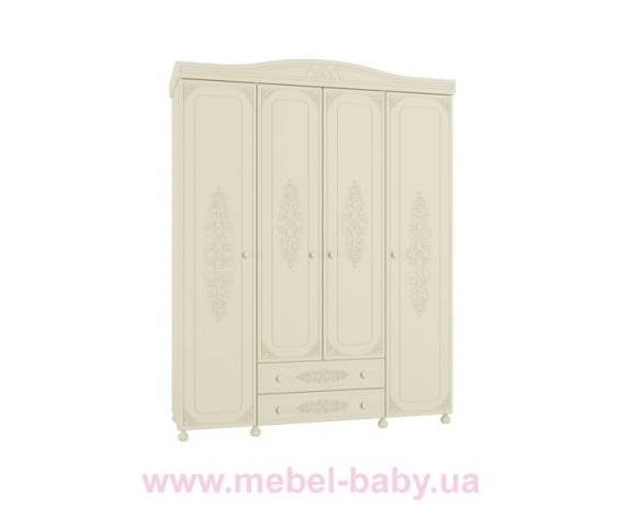 Шкаф 4-х дверный Ассоль Premium АС-28 Санти Мебель
