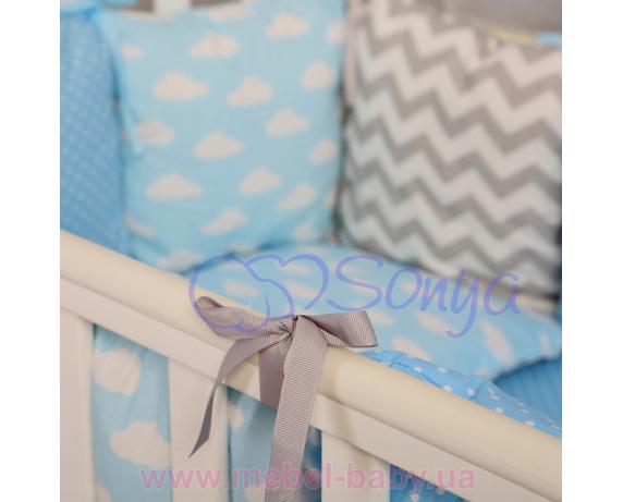 Сменный комплект постельного белья Бейби дизайн № 12 Облака