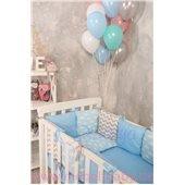 Сменный комплект постельно белья Бейби дизайн № 12 Облака