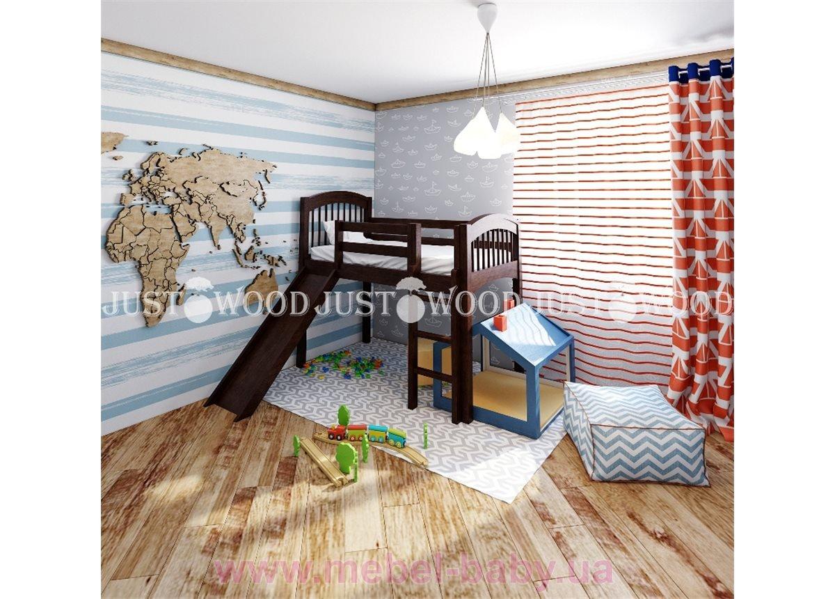 Кровать детская Снежок з горкой 80x160
