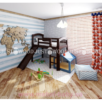 Кровать детская Снежок з горкой 90x190