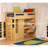 Кровать-чердак со столом Леопольд Justwood