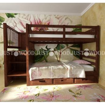 Кровать детская двухъярусная Шериф