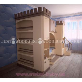 Кровать детская двухъярусная Золушка 90x190