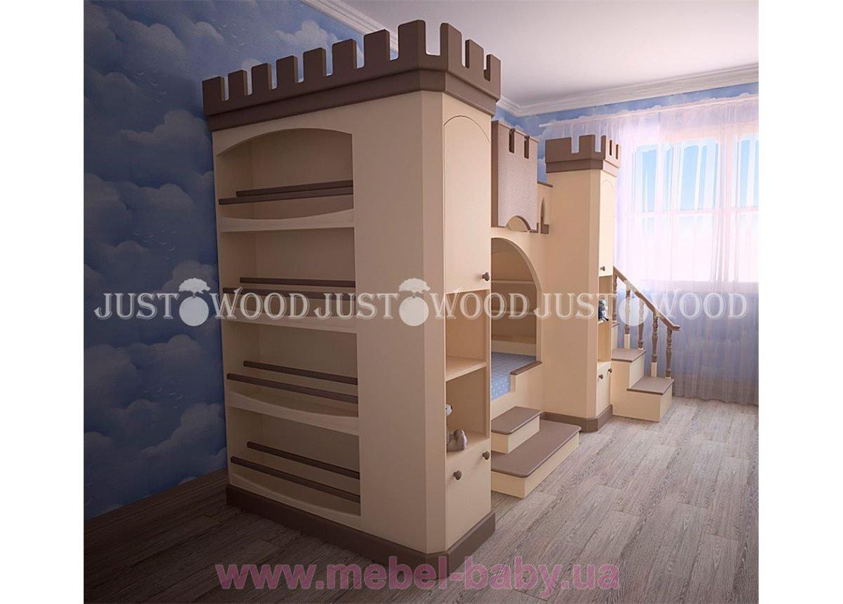 Кровать детская двухъярусная Золушка 120x190