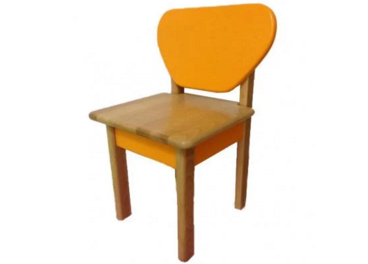 Стульчик дерево/пленка оранжевый, арт. 30.2.21
