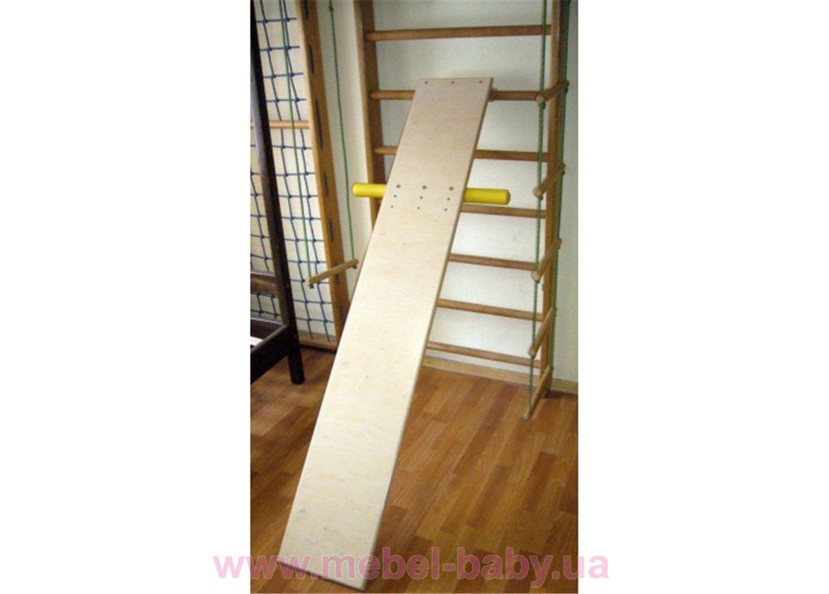 Доска для пресса и спины 190 см с упорами для ног Ирель