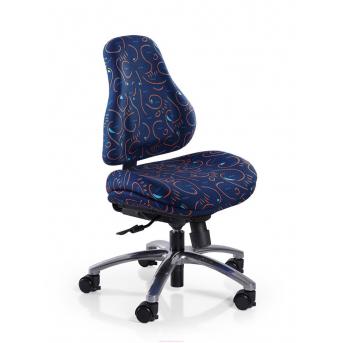 Кресло Mealux Palermo B (арт.Y-128 B) обивка синяя с рисунком