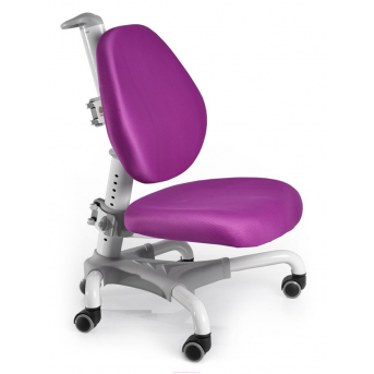 Кресло Mealux Champion WKS (арт.Y-718 WKS) белый металл / обивка фиолетовая однотонная