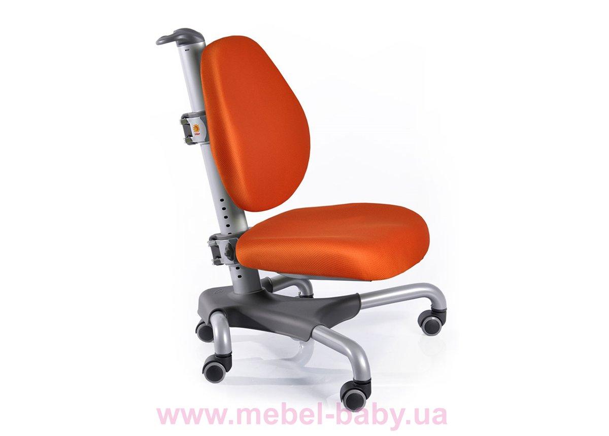 Кресло Mealux Nobel SKY (арт.Y-517 SKY) серебристый металл / обивка оранжевая однотонная