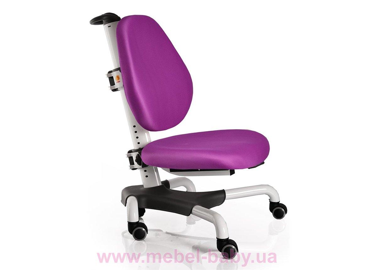 Кресло Mealux Nobel WKS (арт.Y-517 WKS) белый металл / обивка фиолетовая однотонная