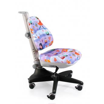 Кресло Mealux Conan GL (арт.Y-317 GL) обивка сиреневая с девочками